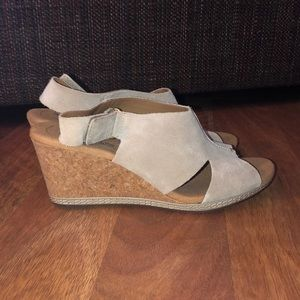 Clark's Collection Suede Wedges
